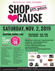 Shop for your Cause 2019 Flyer