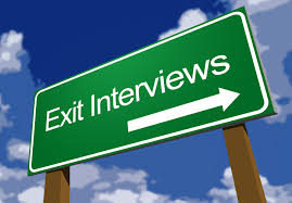 Highway sign that says exit interviews