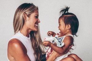 Women mentoring a foster child